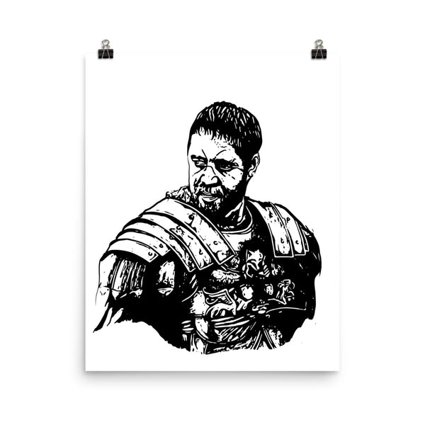 Russell Crowe 11x17 Art Poster, Babes & Gents, www.babesngents.com