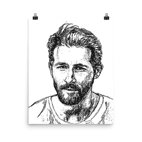 Ryan Reynolds Art Poster (8x10 to 24x36)