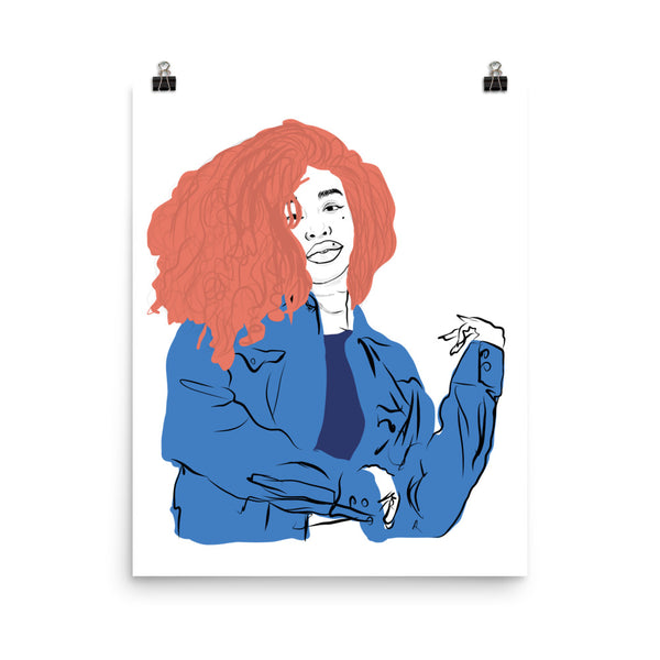 SZA Art Poster (6 sizes) // Babes & Gents // www.babesngents.com