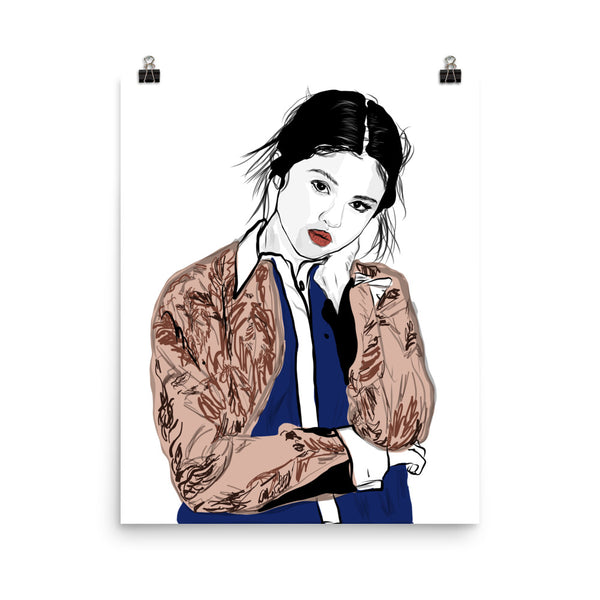 Selena Gomez Art Poster (6 sizes) // Babes & Gents // www.babesngents.com