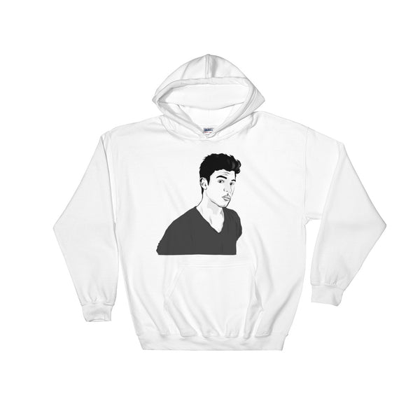 Shawn Mendes White Hoodie Sweater (Unisex), Babes & Gents, Ottawa