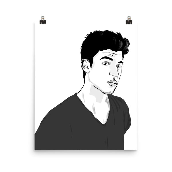 Shawn Mendes Art Poster (6 sizes) // Babes & Gents // www.babesngents.com