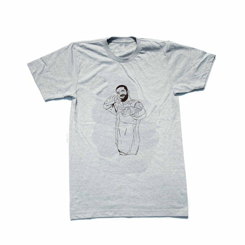 Drake 6 God Shooter Heather Grey Tee (Unisex)