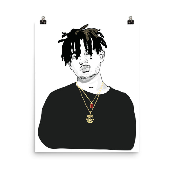 Smoke Purpp Art Poster (6 sizes) // Babes & Gents // www.babesngents.com