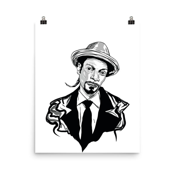 Snoop Dogg Art Poster (6 sizes) // Babes & Gents // www.babesngents.com