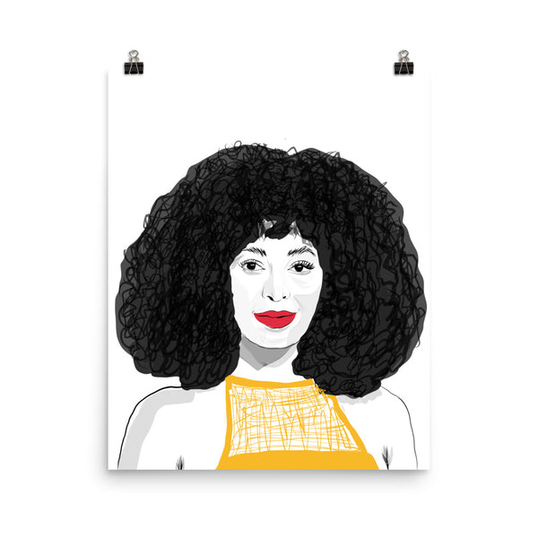 Solange Art Poster (6 sizes) // Babes & Gents // www.babesngents.com