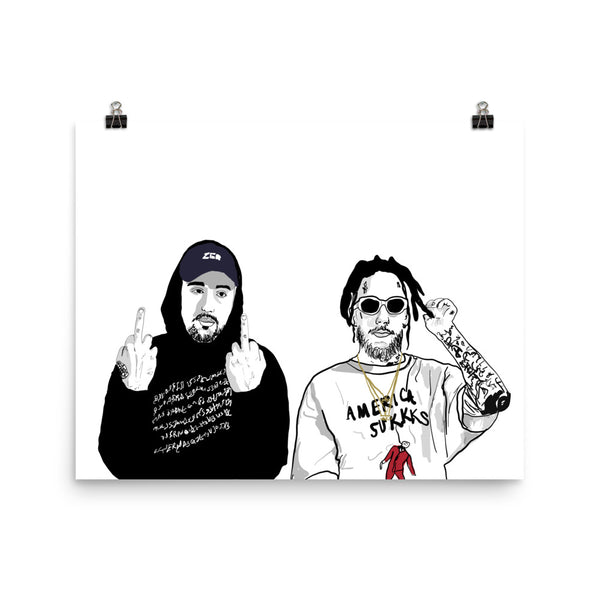 $uicideboy$ Suicide Boys Art Poster (6 sizes) // Babes & Gents // www.babesngents.com