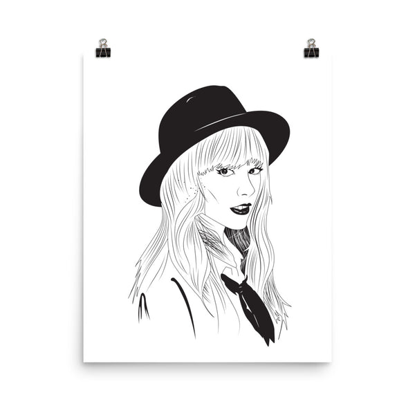 Taylor Swift Art Poster (3 sizes) // 1989 Shake it off unique artsy // Babes & Gents // www.babesngents.com