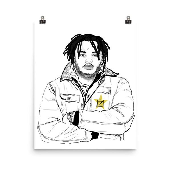Tee Grizzley Art Poster (8x10 to 24x36)