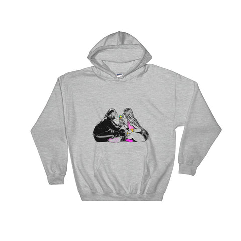 Tekashi 69 6ix9ine and Nicki Minaj Fefe Grey Hoodie Sweater (Unisex)