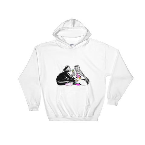 Tekashi 69 6ix9ine and Nicki Minaj Fefe White Hoodie Sweater (Unisex)