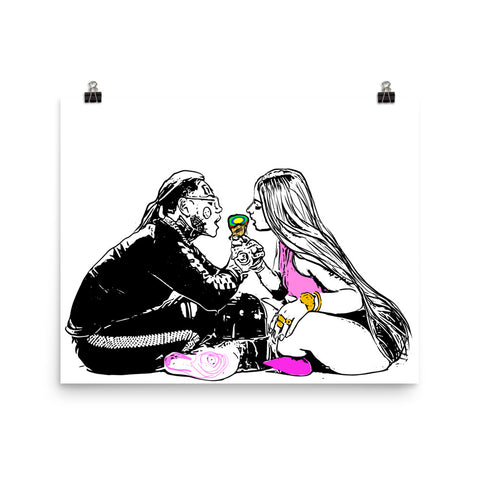 Tekashi 69 6ix9ine and Nicki Minaj Fefe Art Poster (8x10 to 24x36)