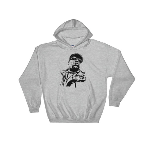 The Notorious B.I.G. Biggie smalls 3 Grey Hoodie Sweater (Unisex)
