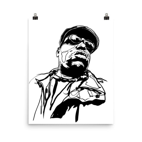 The Notorious B.I.G. Biggie smalls 3 Art Poster (8x10 to 24x36)