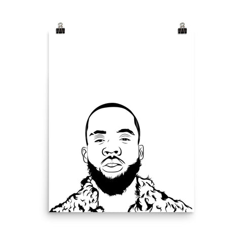 Tory Lanez I Told You Say Art Poster (8x10 to 24x36)