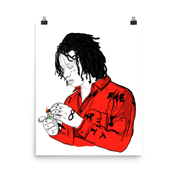 Trippie Redd Love Scars Art Poster (6 sizes) // Babes & Gents // www.babesngents.com
