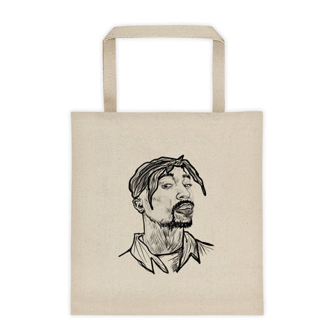 Tupac Shakur 3 Canvas Tote Bag