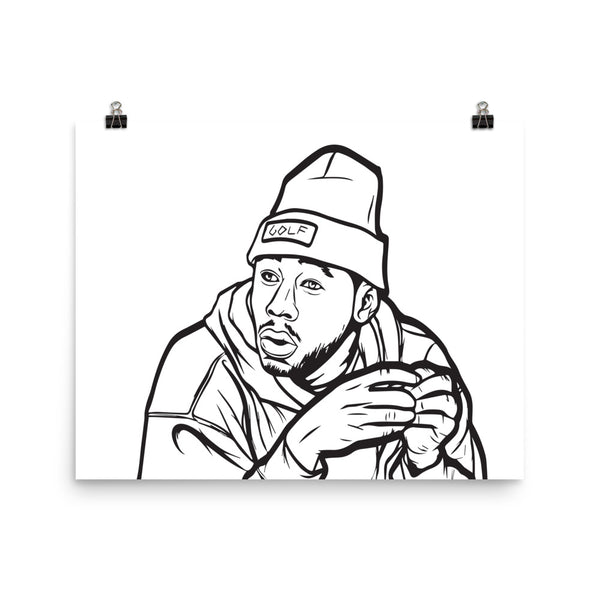 Tyler The Creator Golf Art Poster (6 sizes) // Babes & Gents // www.babesngents.com
