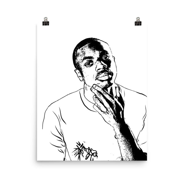 Vince Staples Art Poster (8x10 to 24x36) // Babes & Gents // www.babesngents.com