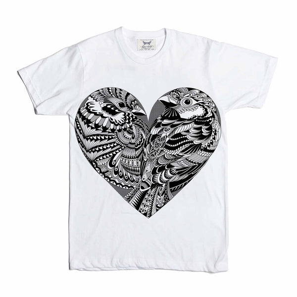 Love Birds Tee in White | Babes & Gents | www.babesngents.com