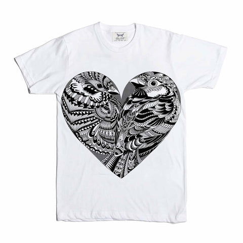 Love Birds Tee (Big Print) (White)