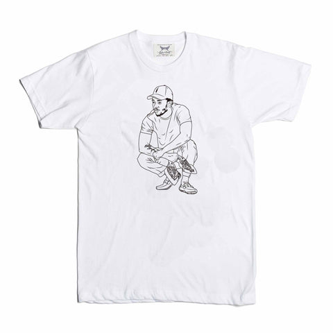 Kendrick Lamar White Tee (Unisex) // alright to pimp a butterfly king kunta i tde kdot