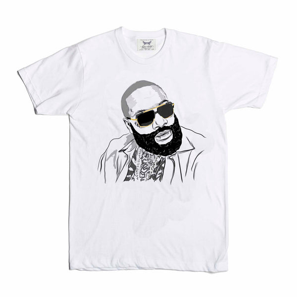 Rick Ross White Tee (Unisex) // T-shirt // Babes & Gents // www.babesngents.com