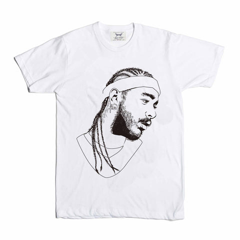 Post Malone White Iverson Stoney White Tee (Unisex)