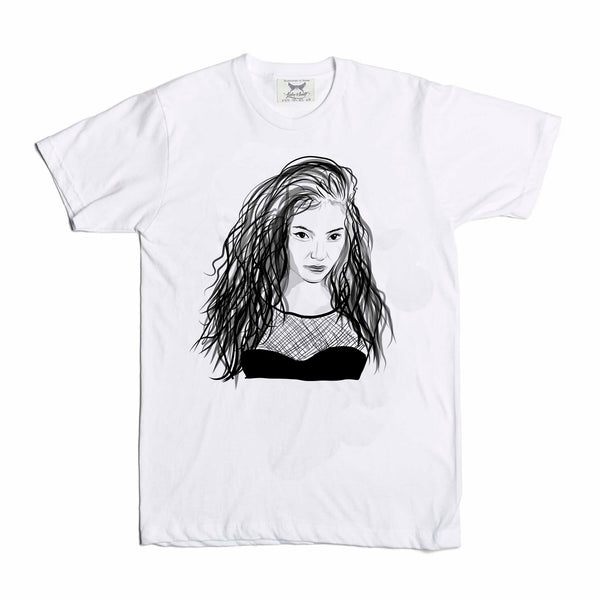 Lorde White Tee (Unisex) // T-shirt // Babes & Gents // www.babesngents.com