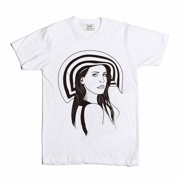 Lana Del Rey White Tee // T-shirt // Babes & Gents // www.babesngents.com