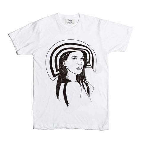 Lana Del Rey Honeymoon White Tee // Born to Die Unique Artsy Design
