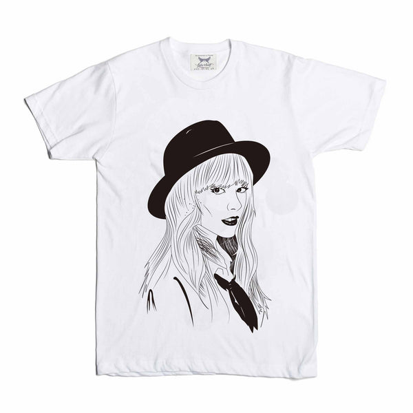 Taylor Swift White Tee // T-shirt // Babes & Gents // www.babesngents.com