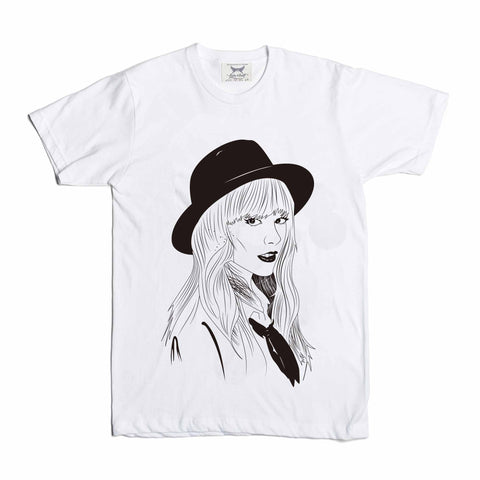 Taylor Swift White Tee // 1989 Shake it off unique artsy