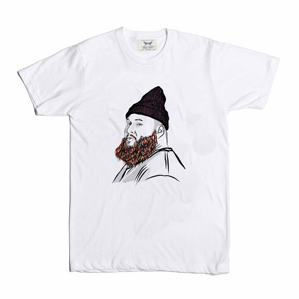 Action Bronson White Tee (Unisex) // T-shirt // Babes & Gents // www.babesngents.com
