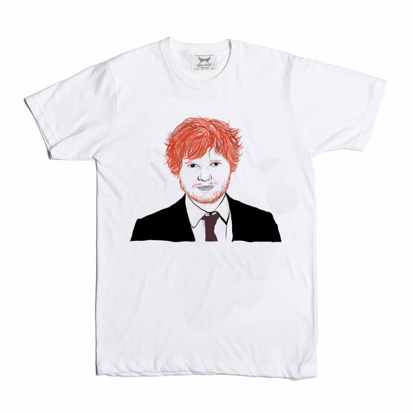 Ed Sheeran White Tee (Unisex) // T-shirt // Babes & Gents // www.babesngents.com