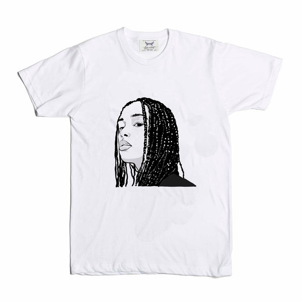 Jorja Smith White Tee (Unisex) // T-shirt // Babes & Gents // www.babesngents.com