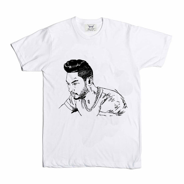 Miguel  White Tee (Unisex) // T-shirt // Babes & Gents // www.babesngents.com