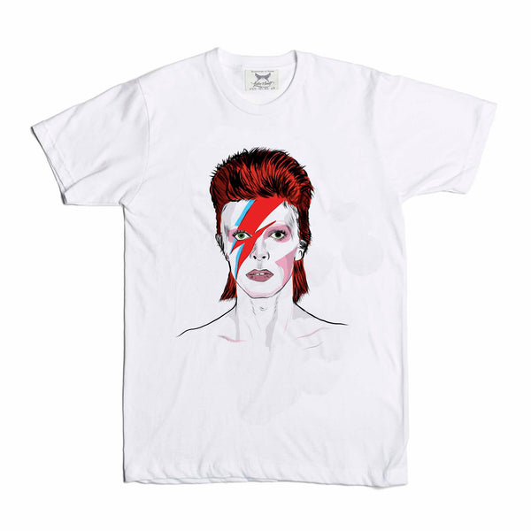 David Bowie Kids White Tee (Unisex) // Babes & Gents // www.babesngents.com