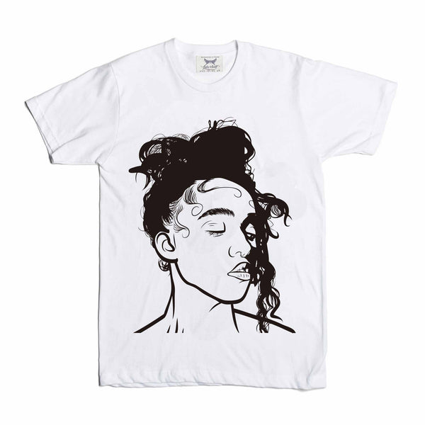 FKA Twigs White Tee // M3LL155X LP1 British // Babes & Gents // www.babesngents.com
