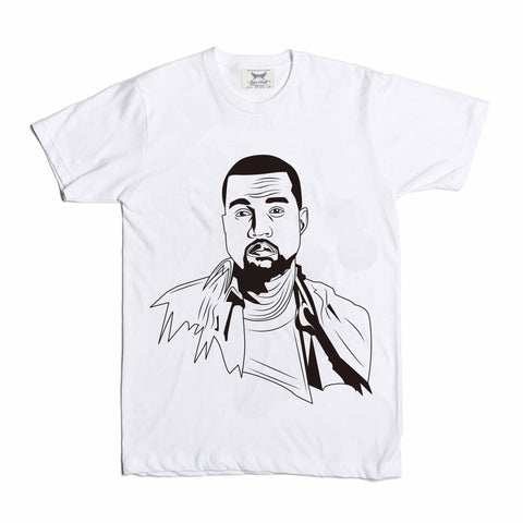 Kanye West Yeezy White Tee // swish yeezus tour allday