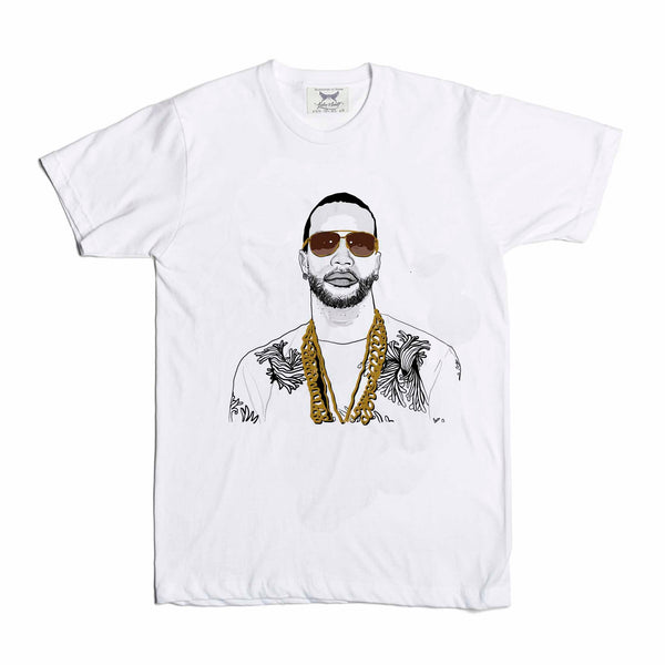 Juicy J White Tee (Unisex) // T-shirt // Babes & Gents // www.babesngents.com