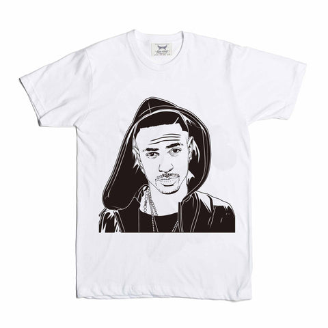 Big Sean White Tee // IDFWU Blessings Dark Sky Paradise