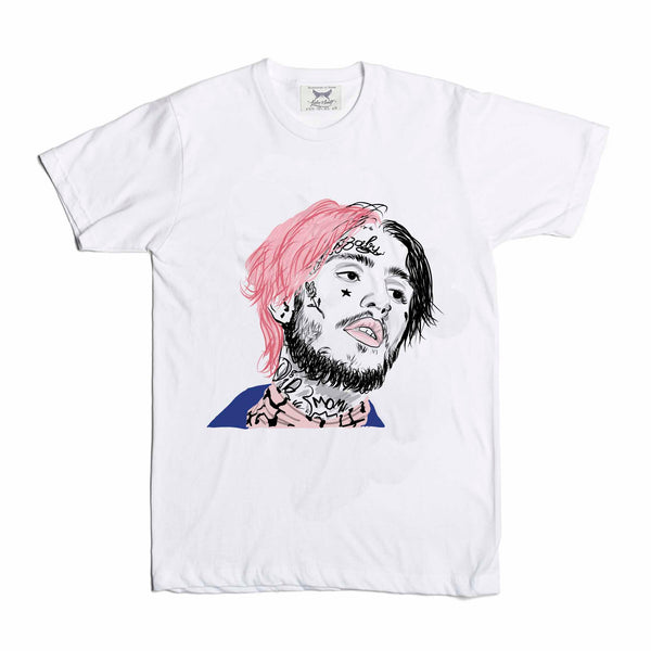Lil Peep White Tee (Unisex) // T-shirt // Babes & Gents // www.babesngents.com