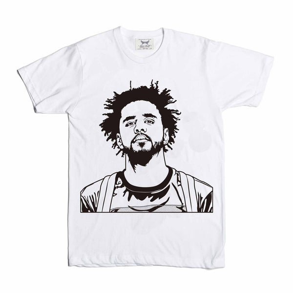 J. Cole White Tee // T-shirt // Babes & Gents // www.babesngents.com
