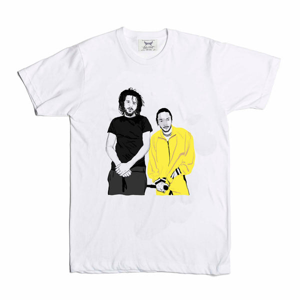 Jcole and Kendrick Lamar White Tee (Unisex) // T-shirt // Babes & Gents // www.babesngents.com