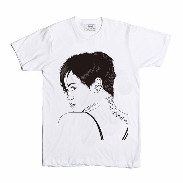 Rihanna White Tee // T-shirt // Babes & Gents // www.babesngents.com
