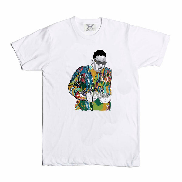 The Notorious B.I.G. Biggie smalls Coogie Sweater White Tee (Unisex) // T-shirt // Babes & Gents // www.babesngents.com