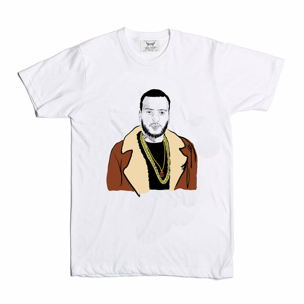 French Montana White Tee (Unisex) // T-shirt // Babes & Gents // www.babesngents.com