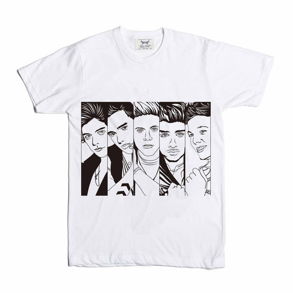 One Direction 1D White Tee
