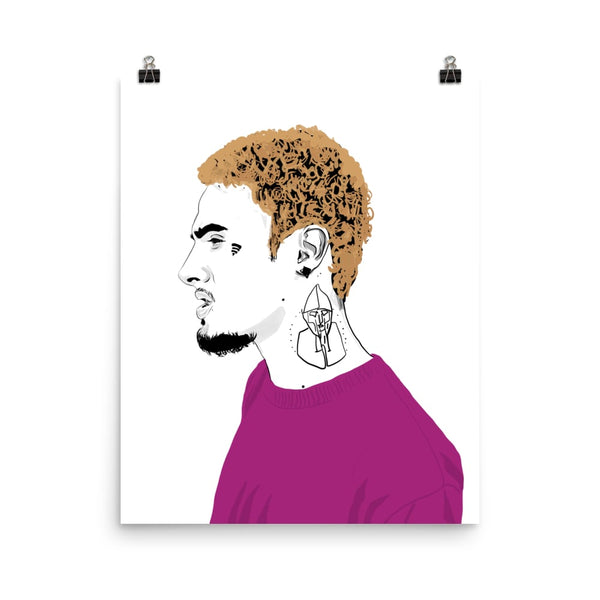 Wifisfuneral Art Poster (6 sizes) // Babes & Gents // www.babesngents.com